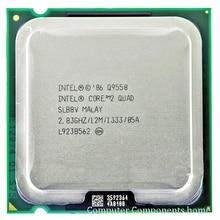 INTEL Q9550 INTEL core 2 quad Q9550 Cpu-prozessor (2,83 Ghz/12 Mt/1333 GHz) Buchse 775 Desktop CPU kostenloser versand
