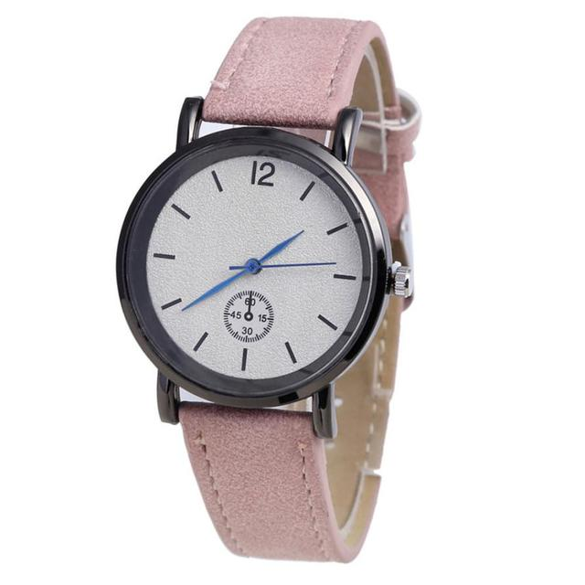Quartz Wristwatches Reloj Mujer PU Leather Strap Simple Women Watch Luxury Brand