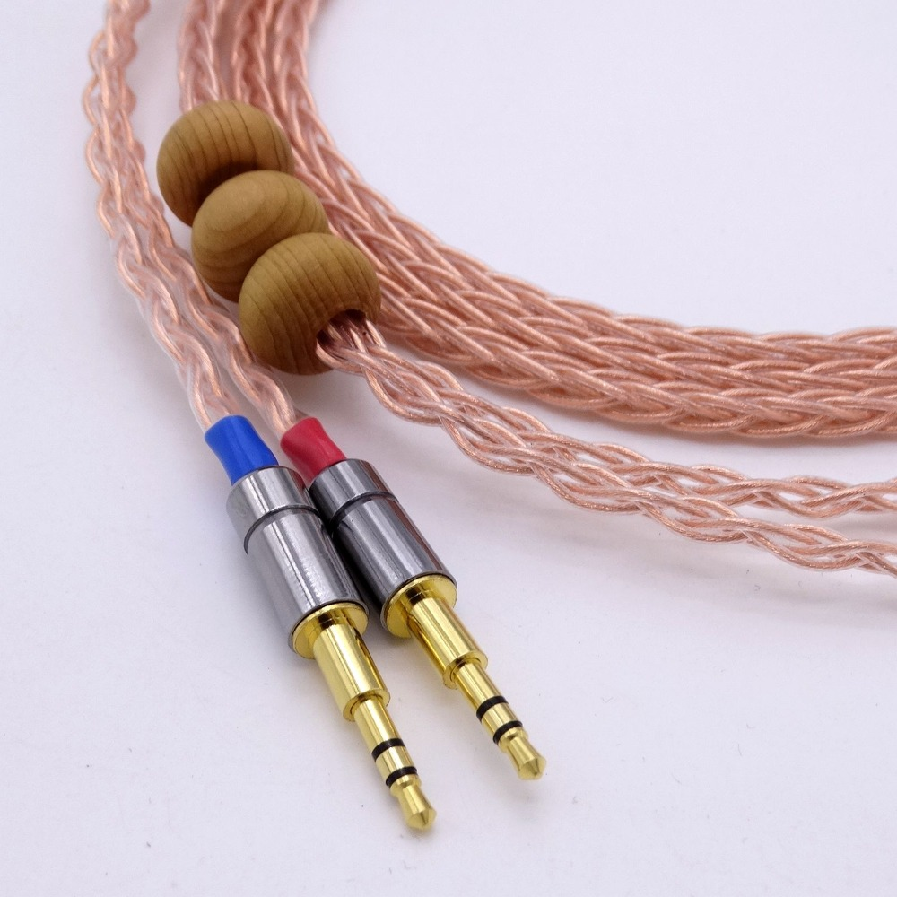 HiFi Cable Headphone Upgrade Cable 1.2M Hi-End 8 Cores 5N OCC For Hifman HE1000 HE400S He400i HE-X HE560 Oppo PM-1 PM-2