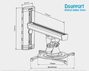 Image 3 - PR03B In Lega di Alluminio 360 Gradi Supporto A Muro per Proiettore Full Motion Retrattile Universale Proiettore Staffa di supporto