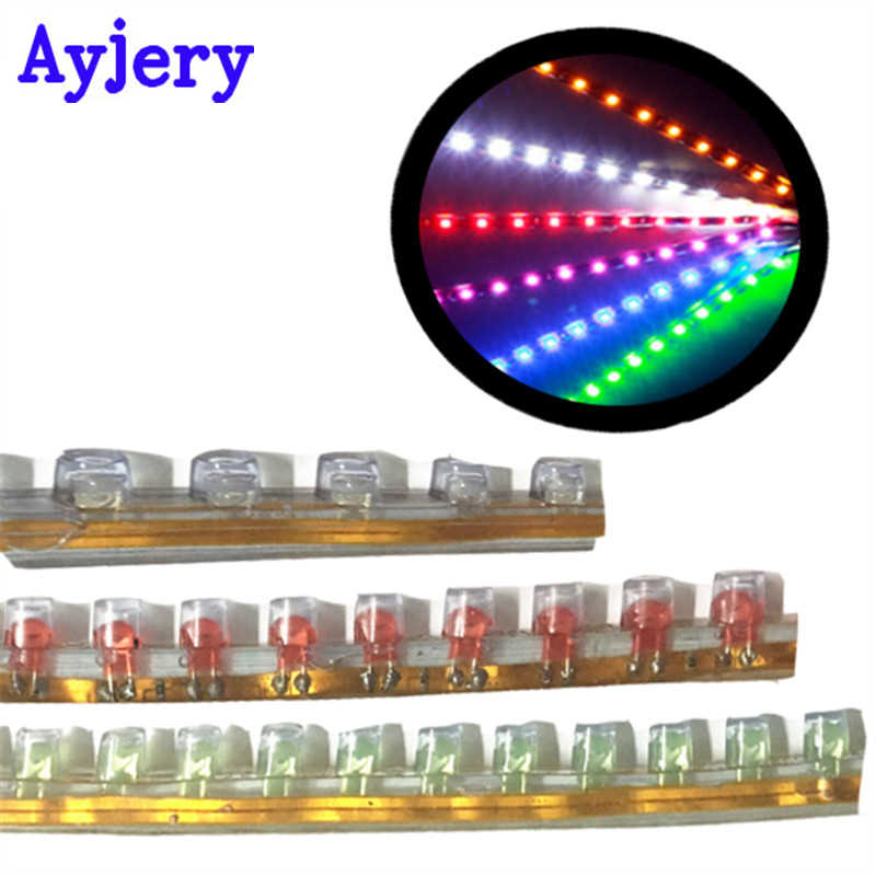 AYJERY Car-styling! 2 PCS PVC-24CM Strip Lights Flexible LED Strip Lamps Blue Green Red White Yellow Pink RGB Color Car Decorate