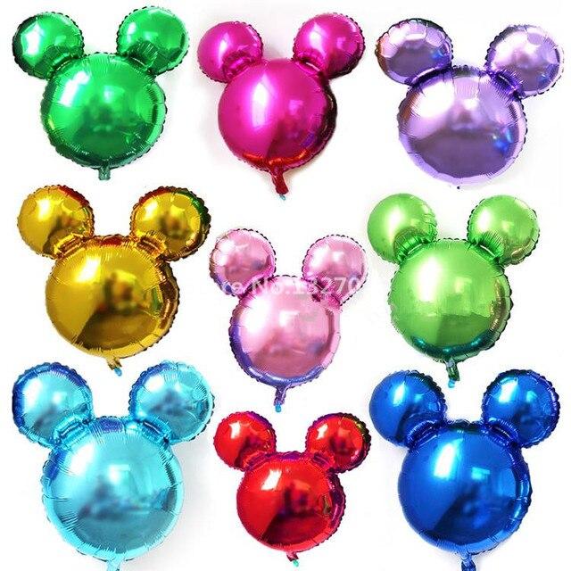 1 Unid Color Puro Mickey Minnie Forma Bolas Inflables Para Globos De - Globos-con-formas