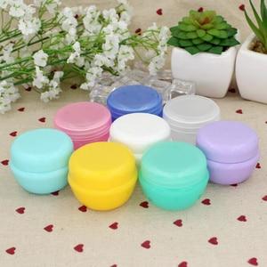 Image 2 - 5Pcs/Lot Mini Empty Jar Pots Cosmetic Makeup Inner Lid Face Cream Lip Balm Container My Refillable Bottles Wholesale