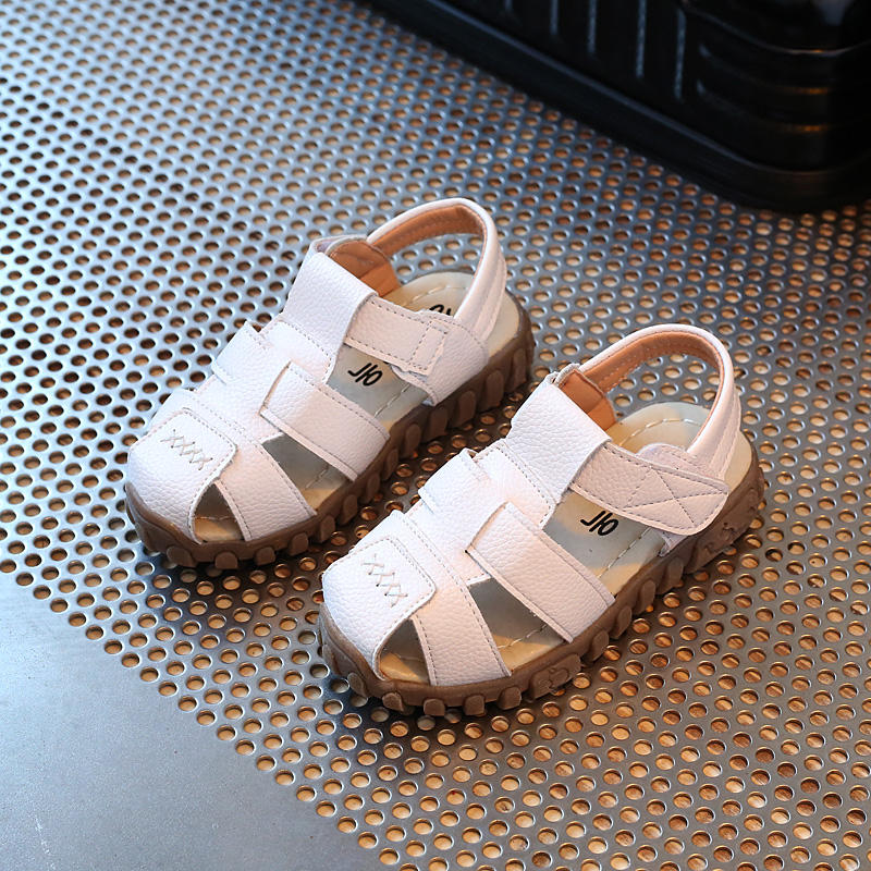 2017 Summer Children Shoes Girls Boys Sandals Soft Sole Baby Toddler Shoes  Casual Beach Shoes Closed Toe Kids PU Leather Sandals-in Sandals from  Mother ... 1a43a398c960