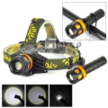 3 in1 XM-L T6 LED 2200Lm Zoomable Flashlight Headlight Adjust Focus Cycling Bicycle Light 3 Modes AAA/18650 Lantern(Not Battery)