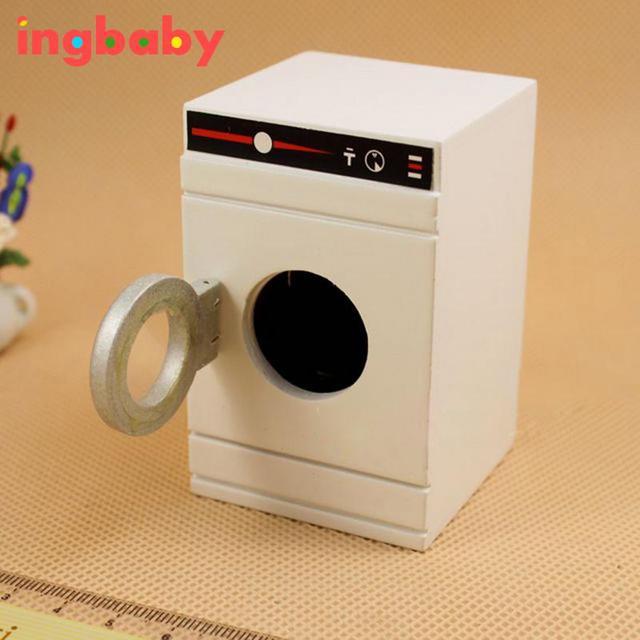 1: 12 Dollhouse Mini Meubles Modèle Mignon Blanc Tambour Machine À Laver  Sèche Linge