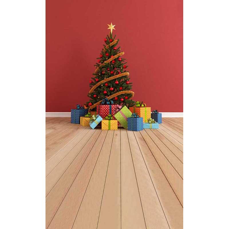 Рождественские декорации Индивидуальные компьютер Отпечатано винил фотографии фон для фотостудии 8x12ft st-201