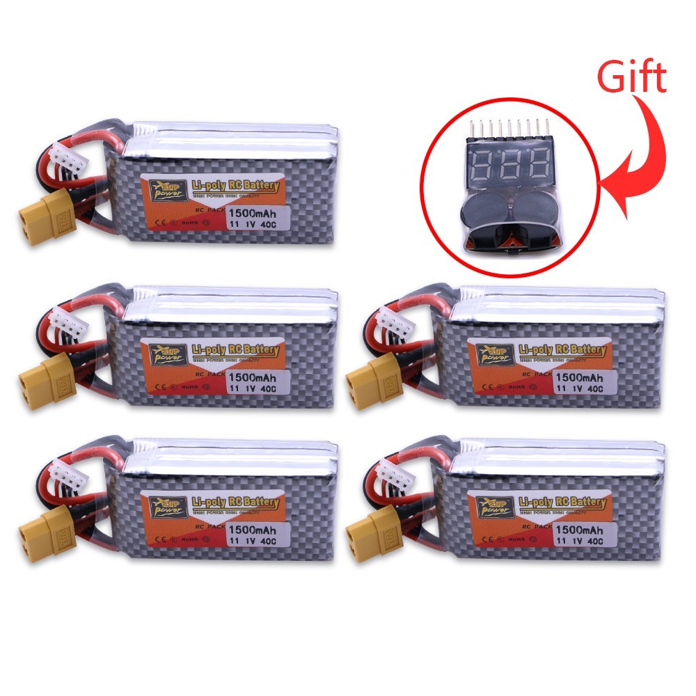 3s lipo battery 5pcs ZOP Power 11.1V 1500Mah 40C Max 60C XT60 Plug T Plug For RC Quadcopter Drone Helicopter Car Airplane