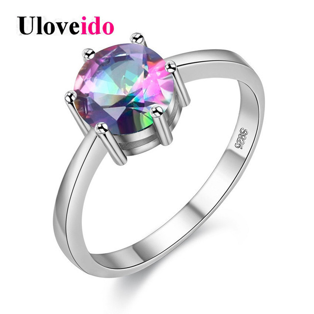 15% off Fianit Cubic Zirconia Crystal Jewelry Stone Wedding Rings for Women Anillos Bijouterie Bague Femme Christmas Gifts J002
