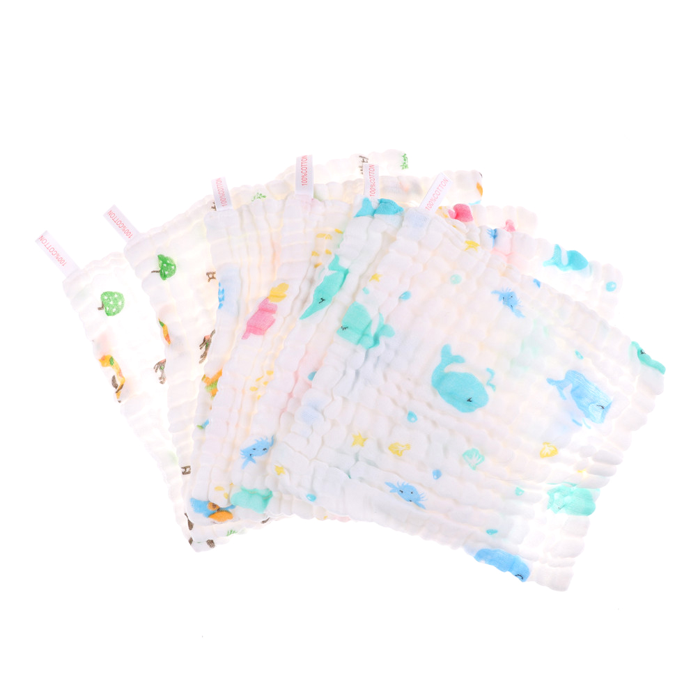 1Pcs 6 layers Baby Cotton Gauze Baby Face Saliva Towels Wash Cloth Handkerchiefs(China)
