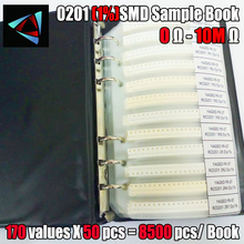 NEW! 0201 SMD YAGEO Resistor Sample Book 1% Tolerance 170valuesx50pcs=8500pcs Resistor Kit 0R~10M