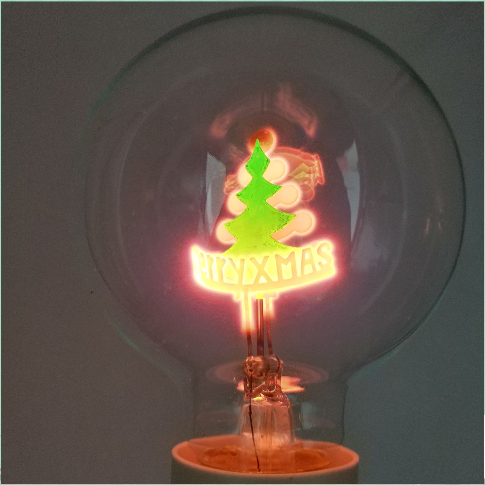 AC220V E27 G80 Vintage  Edison Bulb  Flamingo Christmas/Flowers/Love /Rose Holiday Light Indoor Retro Incandescent Lamp FR317