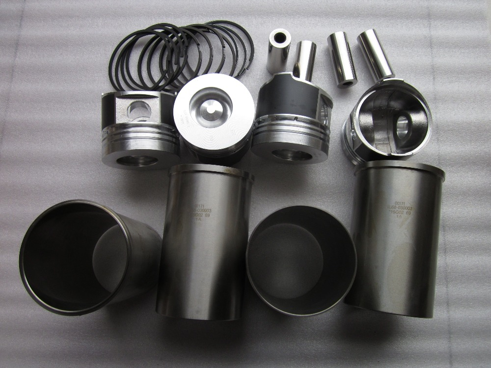 Changchai 4L88, the set of pistons groups including connecting rod bearings, head gasket laidong km4l23bt for tractor like luzhong series set of piston groups with gaskets kit including the cylinder head gasket