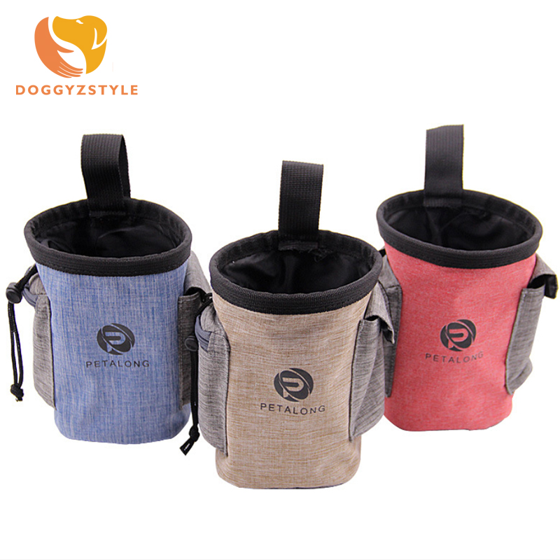 Pet Dog Walking Food Treat Snack Bag Outdoor Portable Training Polyester Pockets Pouch Waist Storage Hold Chihuahua Doggyzstyle