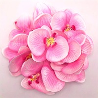100pc 10cm Moth Orchid Flowers Sakura Emulate Decorative Artificial Flowers Fake Green Pot Plants Ornaments Home