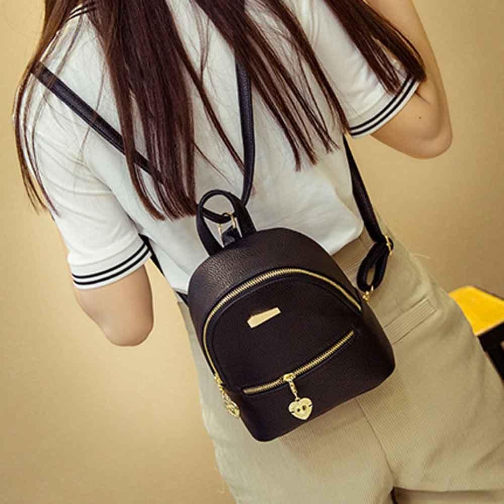 2017 New Womens Backpack Shoulder Bag PU Leather Famous Brand Casual Fashion Backpack Travel School Rucksack Female Purse Bolsa