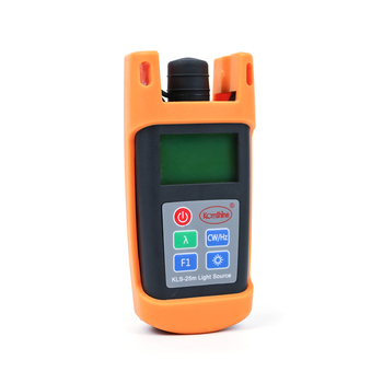 Portable size inglemode Fiber Optic Laser Source 1310/1550nm Komshine KLS-25M-S Optical Light Source with SC