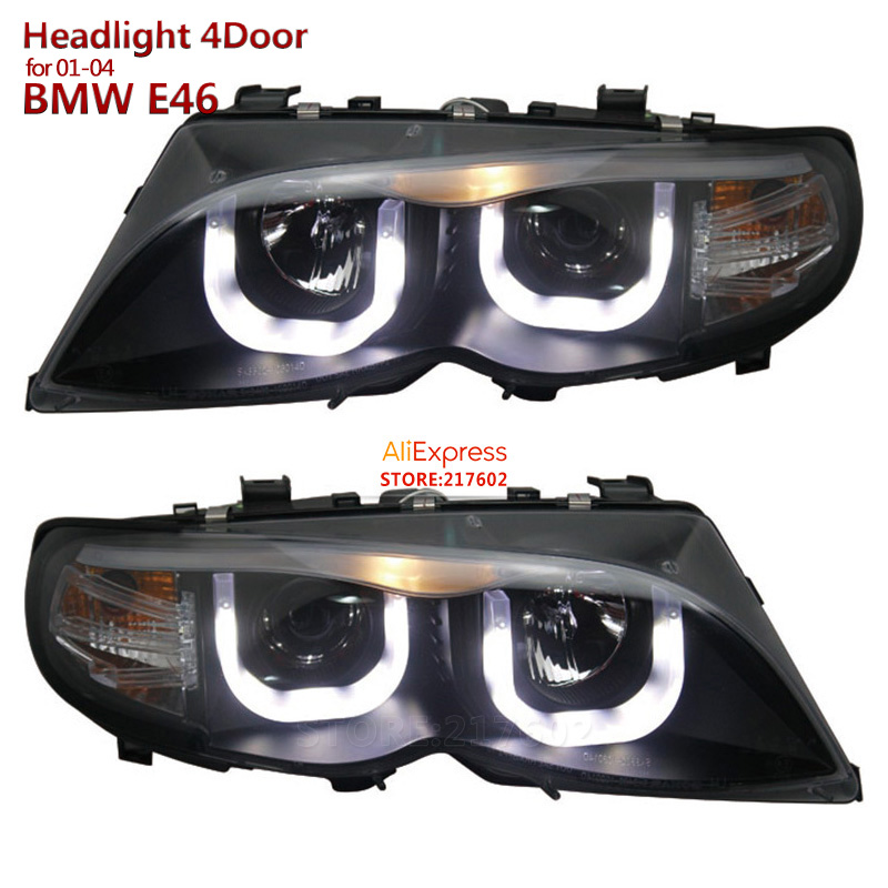 2001-2004 for BMW 3-Series E46 4 Door 318i 320i 323i 325i 330i Projector LED Headlights Assembly SONAR Brand Top Quality bmw 318 в москве