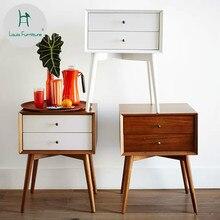 Луи Мода тумбочки современный простой деревянный североамериканский стиль спальня двойной ящик мини-диван