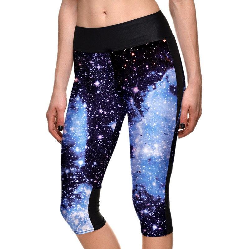 Prix pour 2016 Plus La Taille Femmes Leggings Pantalon Fitness Galaxy Paysage Arbre 3D Imprimer Leggings Pour Femmes Slim Collants Sport Yoga Pantalon femmes