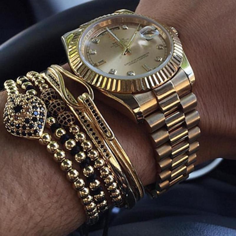 Aliexpress Com Buy Famous Brand Men Bracelets 6mm Pave