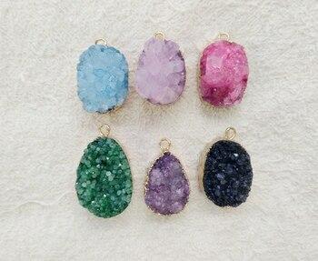 2c0fd3246689 Color multi al por mayor cristal de cuarzo drusy colgante