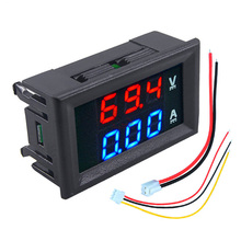 Digital Voltage Meter Dc100V 10A Voltmeter Ammeter Blue+Red Led Amp Dual Display Digital Header three phase digital voltmeter ammeter digital ampere panel meter 96 96 led display combined meter