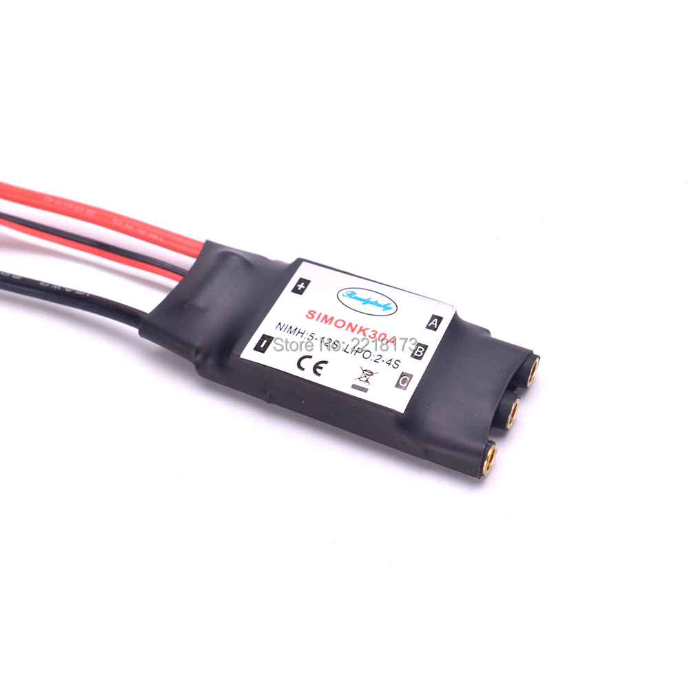 SimonK 30A Firmware Brushless ESC with 2A 5V BEC for F450 F550 RC Quad Multi Copter Good Quality 100a multicopter multi quad copter power battery to 16 esc connection board