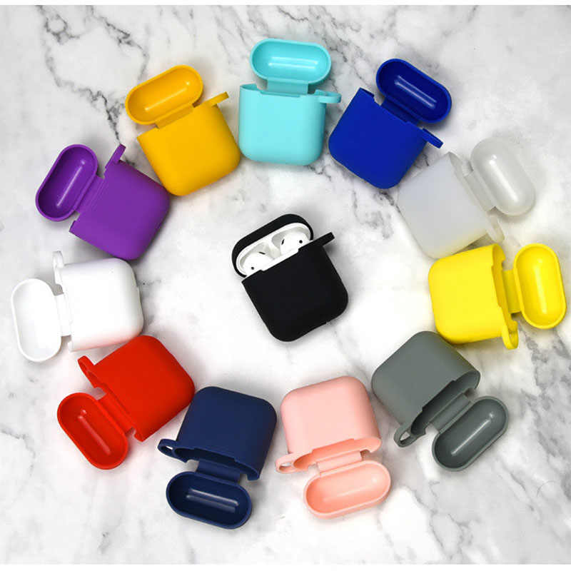 Silicone Cases for Airpods i9s Case Protective Earphone Cover for earphone Charging Box Pouch Bluetooth Wireless Earphone Case