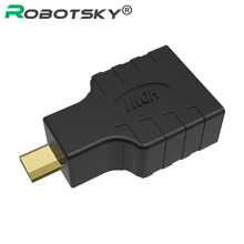 HDMI Female to micro HDMI Male Converter adapter gold plated connector for tablet pc HDTV Projector