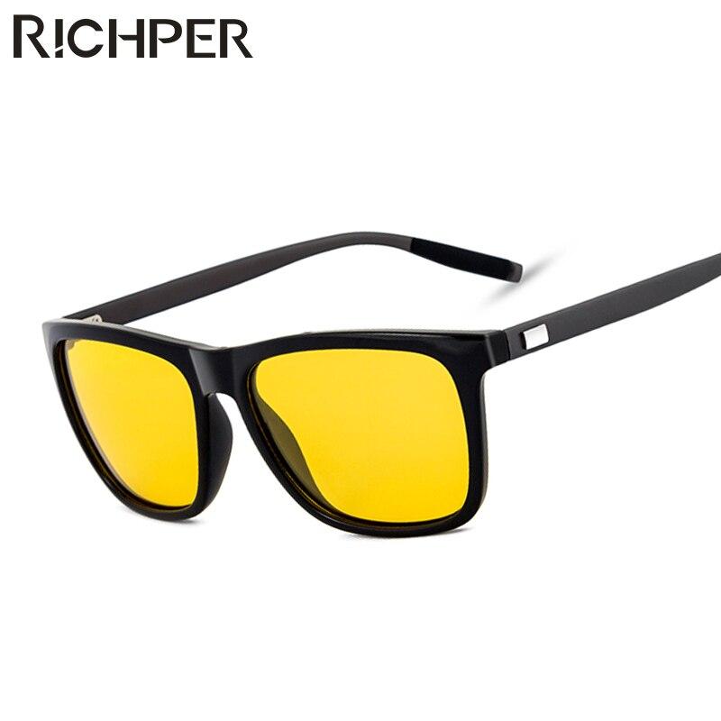 8a603fd18a RICHPER Sunglasses Men Polarized Fashion Brand Designer Square Mirror  Driving Fishing Vintage Male Sun Glasses gafas