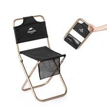 Naturehike алюминиевый каркас ткань Оксфорд открытый складной рыбалка стул для кемпинга расслабляющий отдых мини Сверхлегкий спинка стул