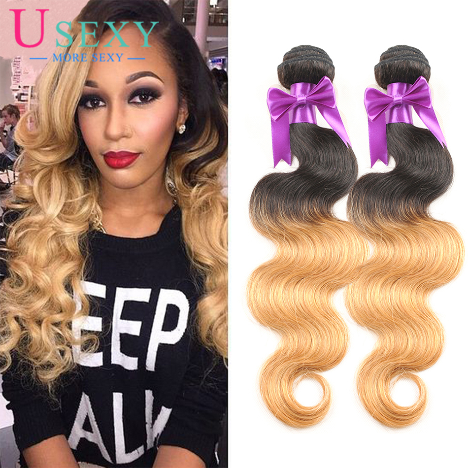 10A Hot Ombre Brazilian Hair Body Wave 1b/27 Two Tone Ombre Human Hair Weave Extensions 4 Bundels Ombre Virgin Hair Body Wave