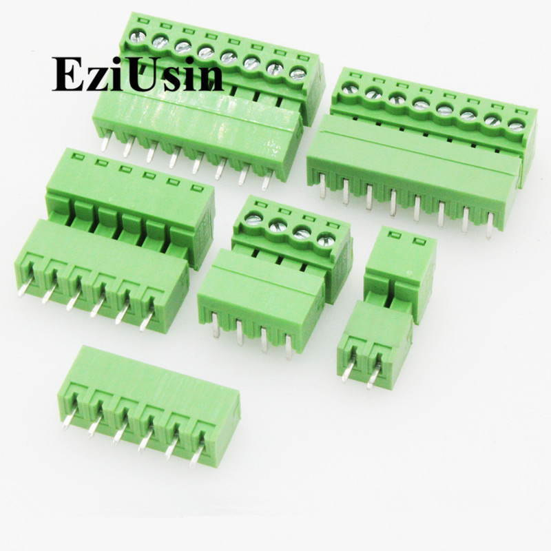 5 Sets 10 Pin PCB Mount Screw Terminal Block Connector Socket 3.81mm