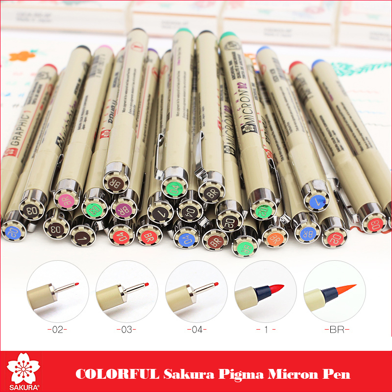 Sakura Pigma Micron Pen Finecolor Fineliner Set Sketch brush Ink Marker Pen copic markers Pigment Liner for drawing art suppliesSakura Pigma Micron Pen Finecolor Fineliner Set Sketch brush Ink Marker Pen copic markers Pigment Liner for drawing art supplies