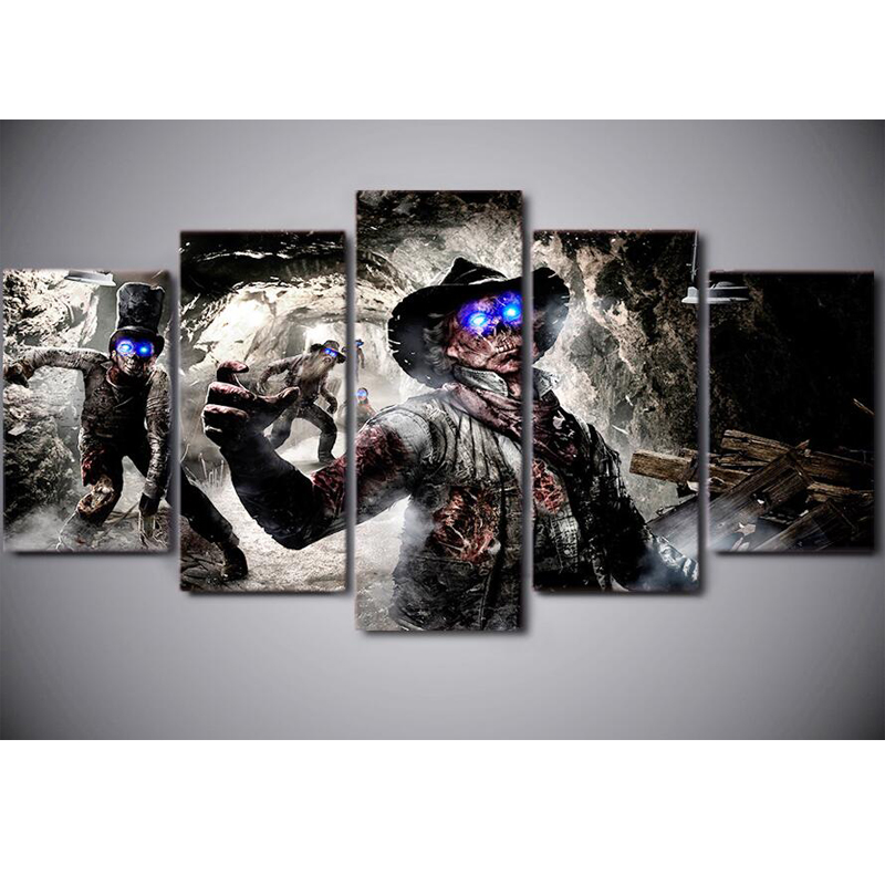 5 pcs 5D DIY Full Square Diamond Painting call of duty zombies death Embroidery Cross Stitch Mosaic diamond wall Decor JS2049