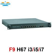 1U 6 порт Gigabit ethernet ATX Мощность Поддержка Intel LGA1155 i5 3470 процессор маршрутизатора сети межсетевого экрана компьютера