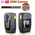 D900 Novatek 96650 64 Гб Full HD 1080P полицейское тело отворот изношенная видеокамера рекордер DVR IR Ночная камера 6-часовая Запись Бесплатная доставка