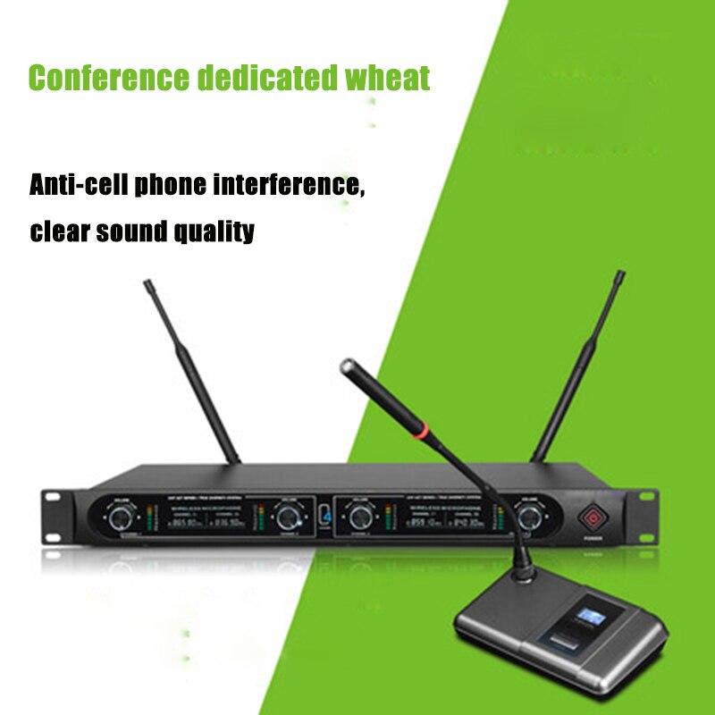 Microphone de conférence à 4 microphones sans fil avec système d'amplificateur Audio à récepteur