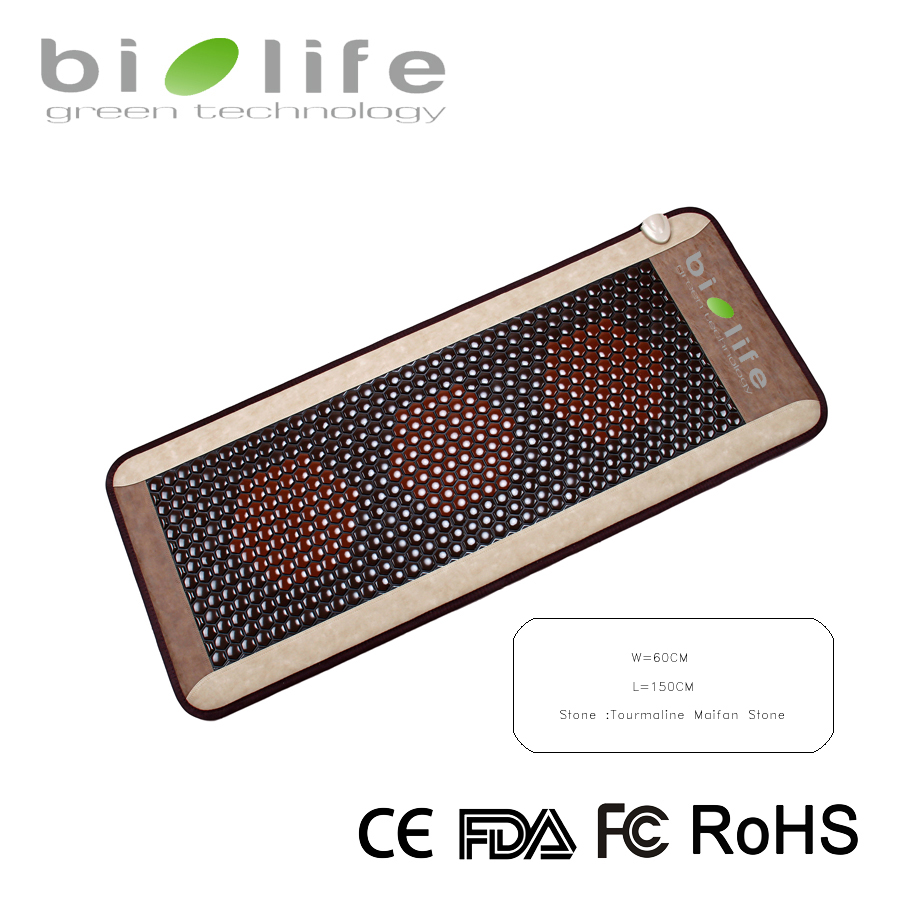 60*150cm Korea Tourmaline Stone Health Infrared thermal Therapy Bio Ceramic Germanium Mattress pop relax tourmaline health products prostate massager for men pain relief 3 balls germanium stone far infrared therapy heater