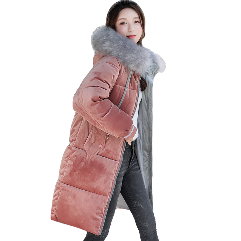 2019 New Arrival Winter Jacket Women Hooded With Fur Velvet Fashion Parka High Quality Warm Thicken