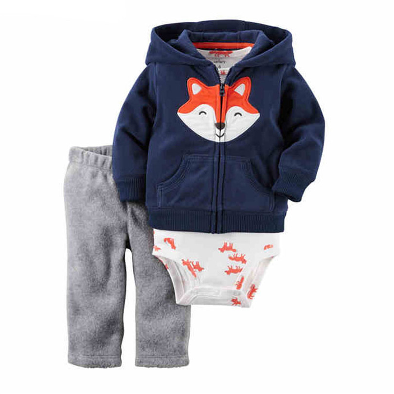 Baby Clothes Sets Baby Clothing Children Suits Hoodies Short Sleeve Rompers 100% Cotton 0-2Y Spring Autumn Costume Boys Boy Set cotton baby rompers set newborn clothes baby clothing boys girls cartoon jumpsuits long sleeve overalls coveralls autumn winter