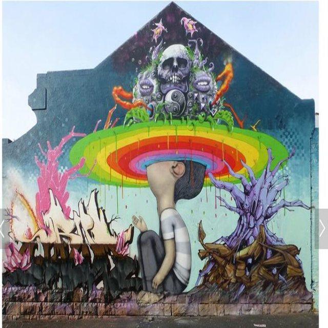 Modern Large Custom Mural Wallpaper Old Brick Wall Abstract Street Graffiti Individual Background