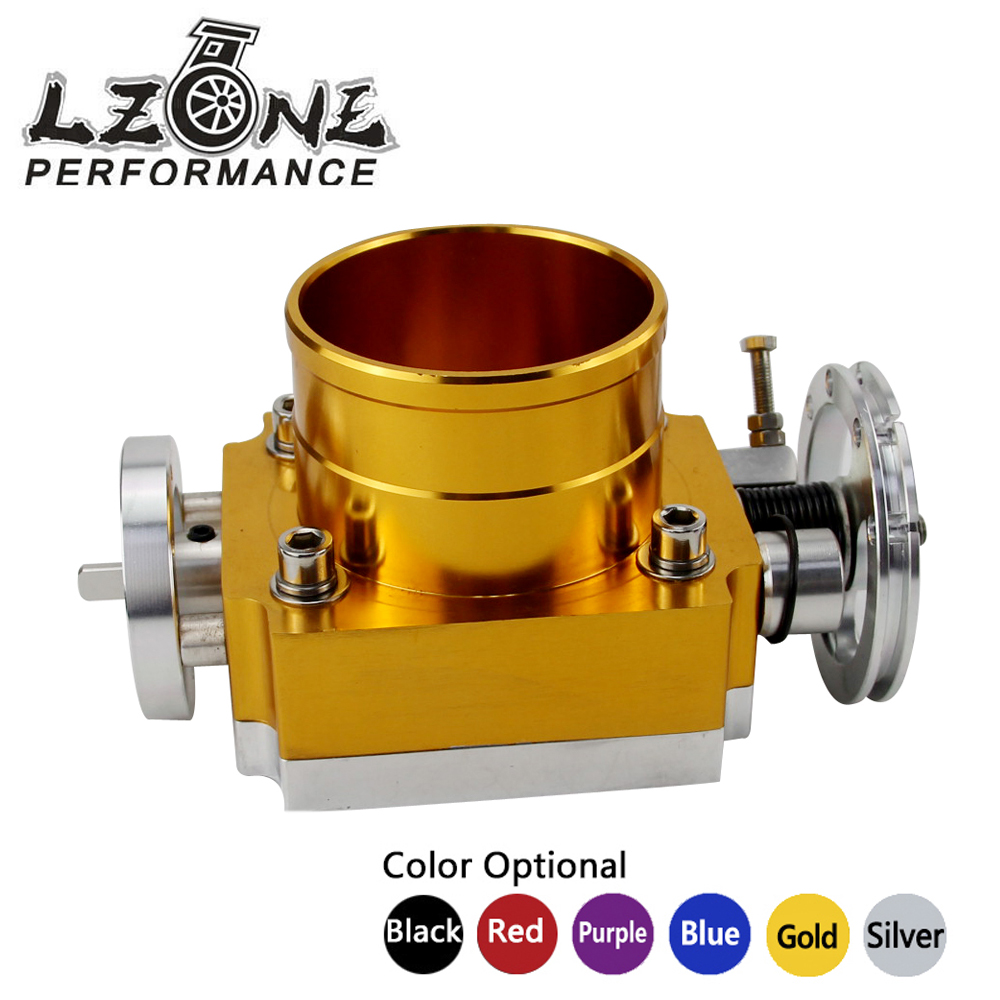 LZONE RACING - NEW THROTTLE BODY 80MM THROTTLE BODY PERFORMANCE INTAKE MANIFOLD BILLET ALUMINUM HIGH FLOW JR6980 pqy racing free shipping new 90mm throttle body performance intake manifold billet aluminum high flow pqy6990