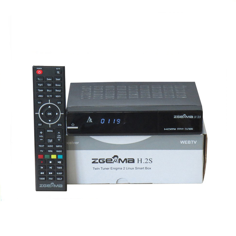 Zgemma H.2S TV Box Media Player Channel Receiver Linux Multimedia HD up to 1080p Twin DVB-S2 Tuner with DHL shipment цены онлайн