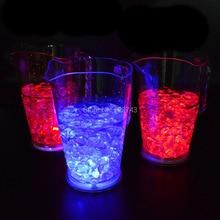 цена на 1.8 Litre flash LED Acrylic Beer Jar Ice Bucket ,color changing nightclubs Beer mug LED light tankard Champagne wine cooler