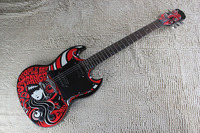 Chinese Guitar factory custom Top Quality Deluxe Epi SG400 Emily the Strange Black Electric Guitar 1312 21