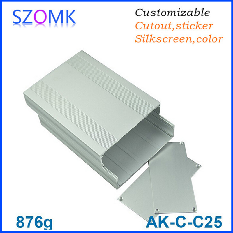 4 pcs 68 145 200mm szomk electronic enclosure case for pcb aluminum project box aluminum enclosure