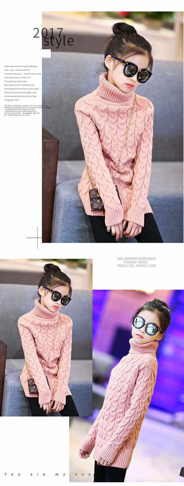 2017 new high neck long knitting girls sweater spring autumn winter turtleneck knitted children sweaters kids girls thick red black beige pink tops 7 8 9 10 11 12 13 14 15 years little big teenage girls sweater winter casual children (13)
