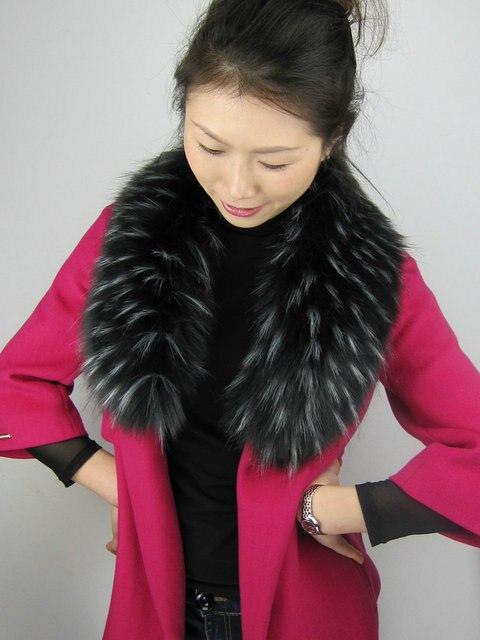 Livraison gratuite Imitation fourrure de raton laveur manteaux colliers  Imitation fourrure de renard écharpe col châle ec550ffa038